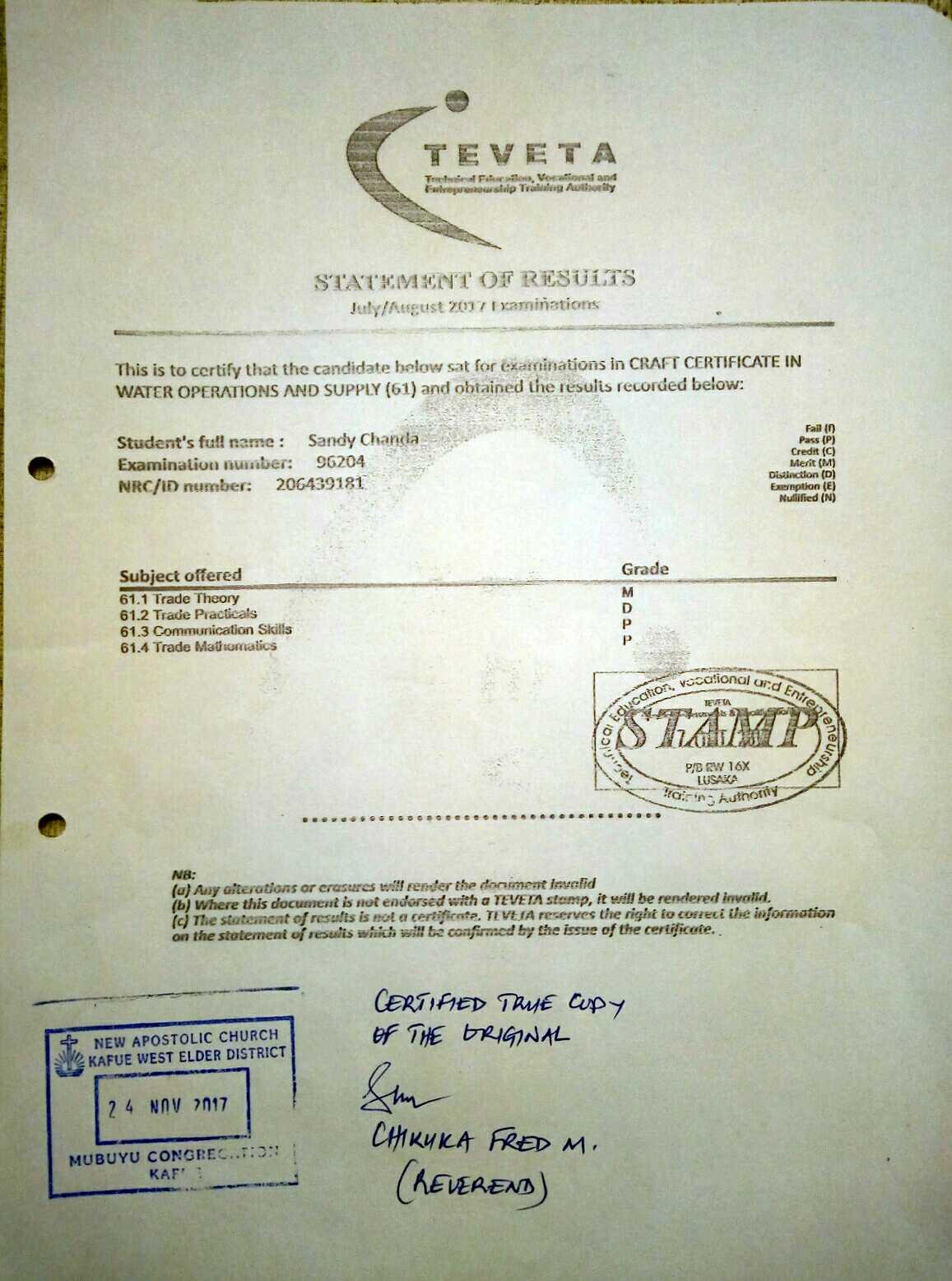 craft certificate